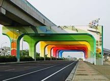 Ein Regenbogengatter Stockfoto
