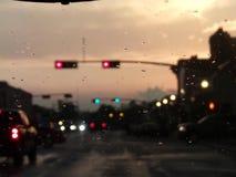 Ein regnerischer Antrieb Stockbilder