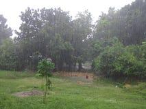 Ein regnerischer Nachmittag in Barinas, Venezuela lizenzfreie stockbilder