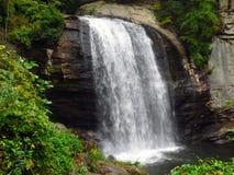 Ein reizender Wasserfall in einem dichten Wald Lizenzfreies Stockfoto