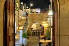 Ein Restaurant in Lindos Lizenzfreie Stockbilder