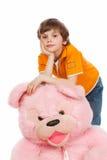 Ein rosafarbener Bär Lizenzfreies Stockfoto