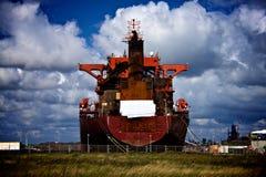 Ein rostiges Boot Stockbild