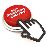 Kaufen Sie die on-line Medizin Stockbild