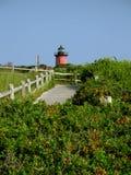 Ein roter Leuchtturm Stockbilder