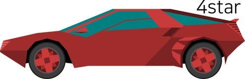 Ein roter Sportwagen Stockbild