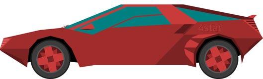 Ein roter Sportwagen Vektor Abbildung