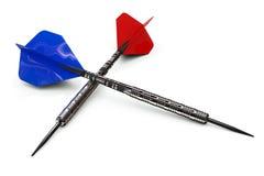 Ein roter und blauer Pfeil Lizenzfreies Stockfoto