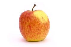 Ein roter und gelber Apfel lizenzfreie stockbilder