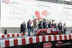 Ein rotes Giannini 750 S Barchetta Lizenzfreie Stockfotografie