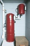 Ein rotes Luftfiltersystem zu Hause Stockfotos