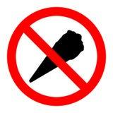 Ein rotes Zeichen mit verboten lizenzfreie abbildung