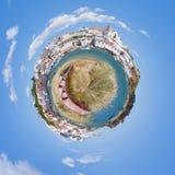 Ein Ruderboot am Hafen von Ferragudo Lizenzfreie Stockfotos