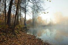 Ein ruhiger Morgen auf dem See Lizenzfreie Stockfotos