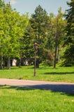 Ein ruhiger Park und dort beleuchtet auch Stockfoto