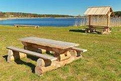 Ein ruhiger Platz für Erholung des Sommers im Freien Stockbild