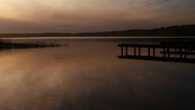 Ein ruhiger See vor Sonnenuntergang Stockfotos