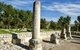 Ein ruine einer Synagoge entdeckt im Galiläa, Israel lizenzfreie stockbilder