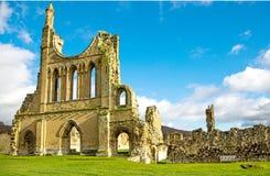Ein ruiniertes Cistercian Monastry in Yorkshire, England Lizenzfreie Stockbilder