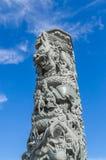Ein Säule Carvingsdrache Lizenzfreie Stockfotografie