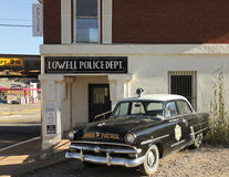 Ein 50s Ford Police Car, Lowell, Arizona Lizenzfreie Stockbilder