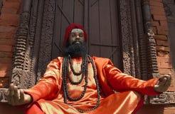 Ein Sadhu (heiliger Mann) in Katmandu - Nepal Lizenzfreies Stockfoto