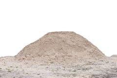 Ein Sandhaufen, sauber und lokalisiert Lizenzfreie Stockbilder