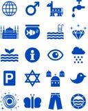 Blaue Ikonen Stockbild