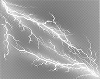 Ein Satz Blitz Magie und helle Lichteffekte Auch im corel abgehobenen Betrag Elektrischer Strom der Entladung Gebührenstrom Stockbild