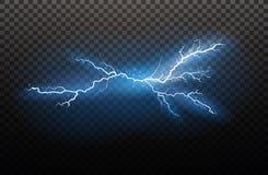 Ein Satz Blitz Magie und helle Lichteffekte Auch im corel abgehobenen Betrag Elektrischer Strom der Entladung Gebührenstrom lizenzfreie abbildung