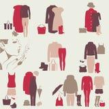 Ein Satz bunte Kleidung für Mädchen Lizenzfreie Stockfotos