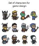 Ein Satz Charaktere bereit zur Animation Charakter für bewegliche Anwendungen und Spieldesign vektor abbildung