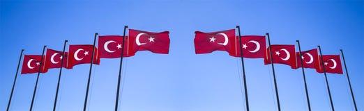 Ein Satz der Flagge des Truthahns Stockfotografie