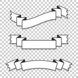 Ein Satz Fahnenbänder Mit Platz für Text Eine einfache flache Vektorillustration lokalisiert auf einem transparenten Hintergrund Stock Abbildung