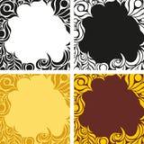 Ein Satz farbige Hintergründe mit abstraktem Muster Stockfotos