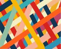 Ein Satz farbige Linien und Streifen nach dem Zufall zerstreut lizenzfreie abbildung