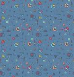 Ein Satz geometrische Elemente Nahtloses Muster von einfachen Formen Stockfotos