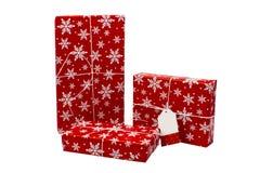Ein Satz Geschenkboxen auf einem weißen Hintergrund Abbildung kann als Hintergrund benutzt werden Stockbild