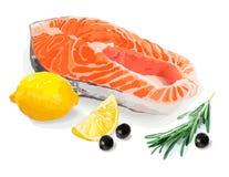 Ein Satz gesundes Lebensmittel Auch im corel abgehobenen Betrag Noch Leben 1 Lizenzfreie Stockfotos