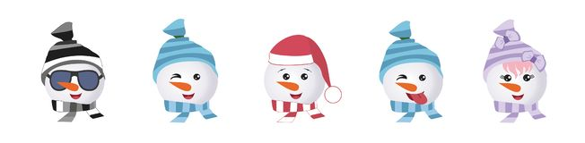 Ein Satz grafische Emoticons - Pinguine Emoji-Sammlung lizenzfreie abbildung