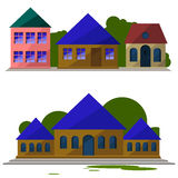 Ein Satz Häuser Lizenzfreie Stockfotos