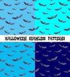 Ein Satz Hintergründe für den Feiertag Halloween, Schläger lizenzfreie abbildung