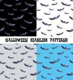 Ein Satz Hintergründe für den Feiertag Halloween, Schläger, eine editable Datei, vier Farben lizenzfreie abbildung