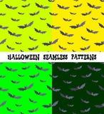 Ein Satz Hintergründe für den Feiertag Halloween, Schläger, eine editable Datei, vier Farben Stockfoto