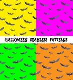 Ein Satz Hintergründe für den Feiertag Halloween, Schläger, eine editable Datei, vier Farben, nahtlos Lizenzfreies Stockfoto