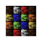 Ein Satz Holz von verschiedenen Farben Vektor stock abbildung