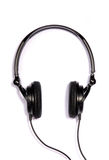 Schwarze justierbare Kopfhörer   Lizenzfreies Stockfoto