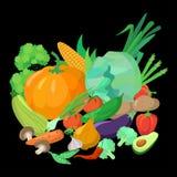Ein Satz köstliches Gemüse Stockfotos