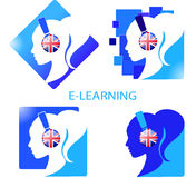 Ein Satz Logoe-learning Stockbild