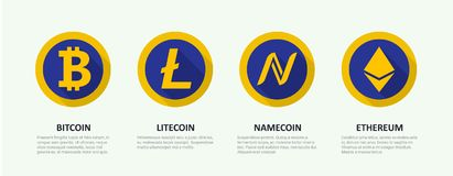 Ein Satz Logos der populären Schlüsselwährung Lizenzfreie Abbildung
